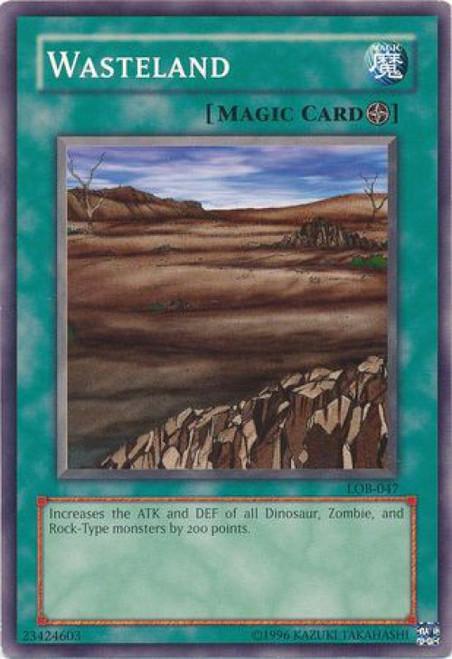 YuGiOh Legend of Blue Eyes White Dragon Common Wasteland LOB-047