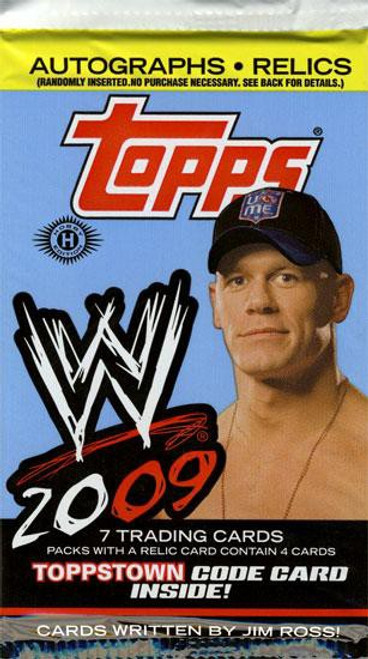 WWE Wrestling Topps 2009 Trading Card Pack [7 Cards!]