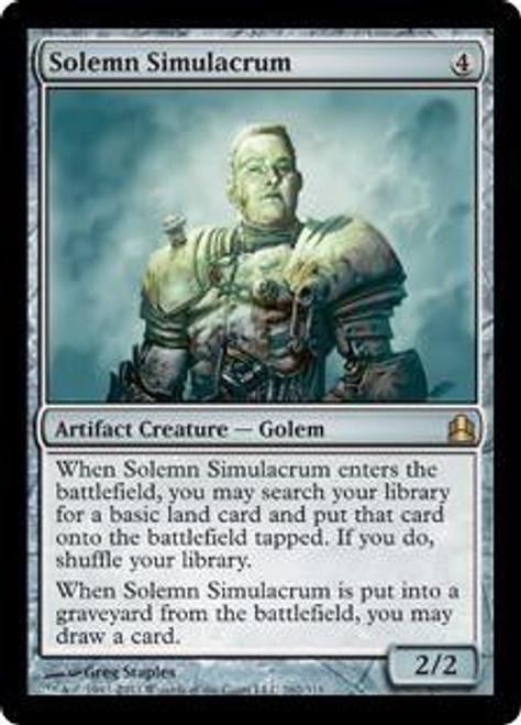 MtG Commander Rare Solemn Simulacrum #262