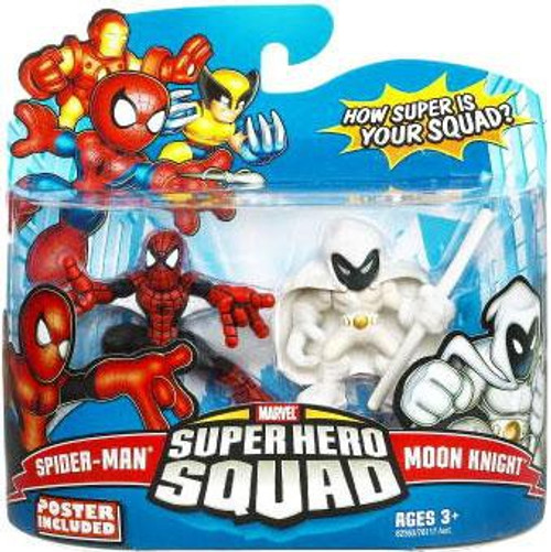 Marvel Super Hero Squad Series 16 Spider-Man & Moon Knight 3-Inch Mini Figure 2-Pack