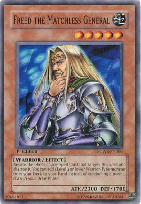 YuGiOh YuGiOh 5D's Structure Deck: Warriors' Strike Common Freed the Matchless General SDWS-EN006