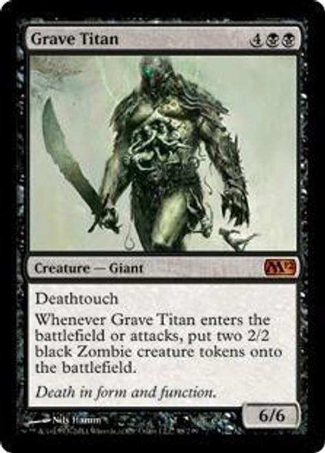 MtG 2012 Core Set Mythic Rare Grave Titan #98