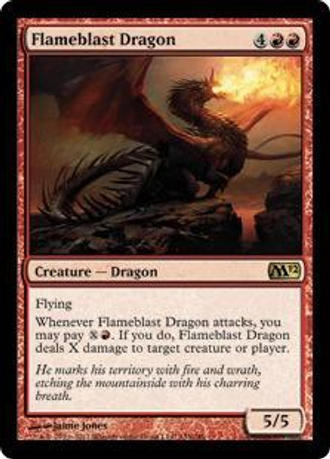 MtG 2012 Core Set Rare Flameblast Dragon #133