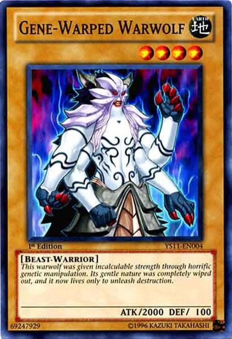 YuGiOh Trading Card Game Dawn of the Xyz Common Gene-Warped Warwolf YS11-EN004