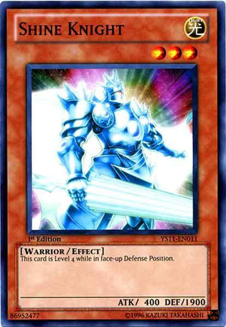 YuGiOh Trading Card Game Dawn of the Xyz Common Shine Knight YS11-EN011