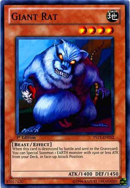 YuGiOh Trading Card Game Dawn of the Xyz Common Giant Rat YS11-EN012