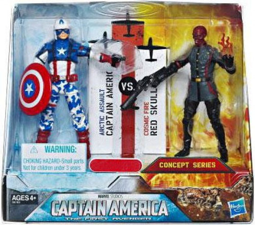 The First Avenger Concept Series Arctic Assault Captain America & Cosmic Fire Red Skull Exclusive Action Figure 2-Pack