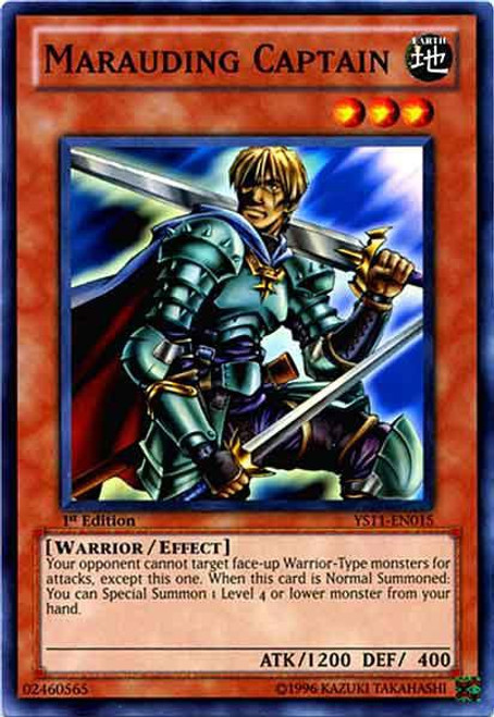 YuGiOh Trading Card Game Dawn of the Xyz Common Marauding Captain YS11-EN015