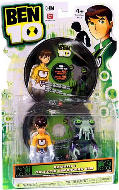 Ben 10 DVD Series Azmuth & Galactic Enforcer Ben Action Figure 2-Pack