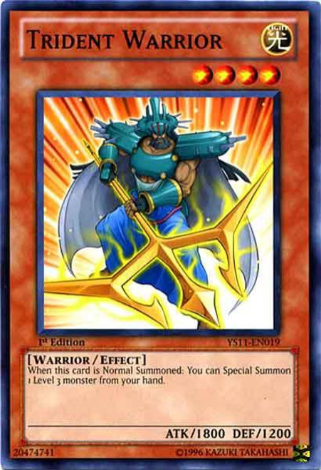 YuGiOh Trading Card Game Dawn of the Xyz Common Trident Warrior YS11-EN019