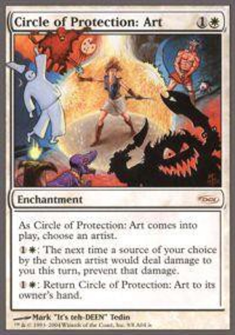 MtG Arena Promo Circle of Protection Art [Arena Unhinged]
