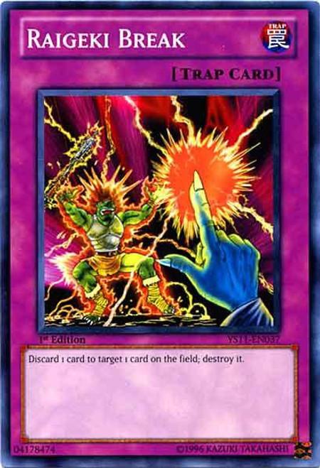 YuGiOh Trading Card Game Dawn of the Xyz Common Raigeki Break YS11-EN037