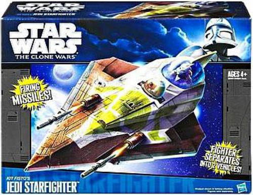 Star Wars The Clone Wars Vehicles 2011 Kit Fisto's Jedi Starfighter Action Figure Vehicle