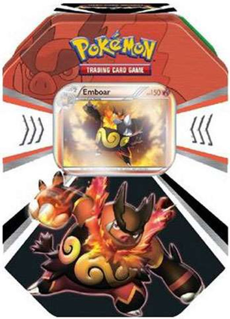 Pokemon Trading Card Game 2011 Black & White Evolved Battle Action Emboar Tin Set