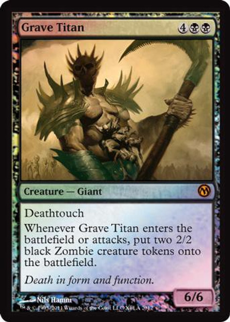 MtG 2012 Core Set Promo Grave Titan [Duels of the Planeswalkers 2012 Xbox Live Arcade Promo]