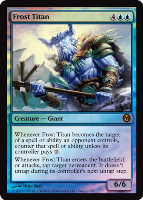 MtG 2012 Core Set Promo Frost Titan [Duels of the Planeswalkers 2012 Steam Promo]
