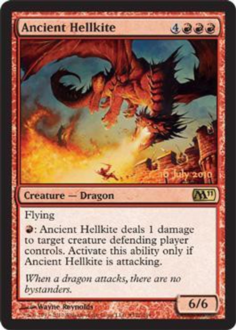 MtG Prerelease & Release Promo Ancient Hellkite [Magic 2011 Release]
