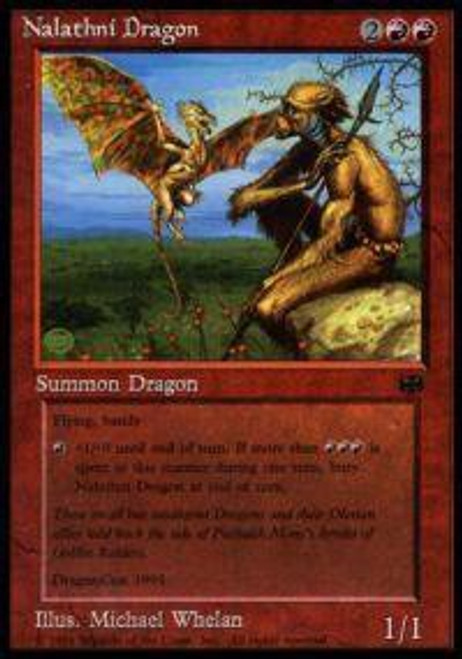 MtG Assorted Promo Cards Promo Nalathni Dragon [Dragon Convention 1994 Promo] [Played Condition]