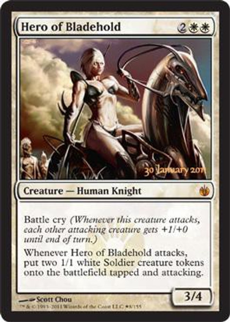 MtG Prerelease & Release Promo Hero of Bladehold [Mirrodin Besieged PreRelease]