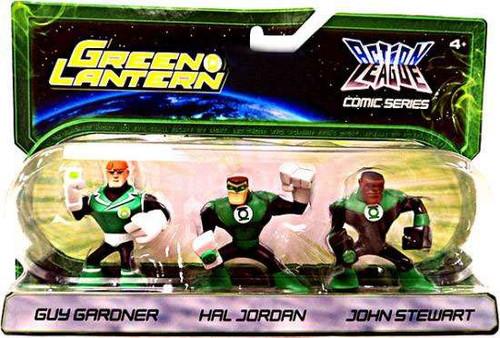 Green Lantern Action League Comic Series Guy Gardner, Hal Jordan & John Stewart Exclusive Mini Figure 3-Pack