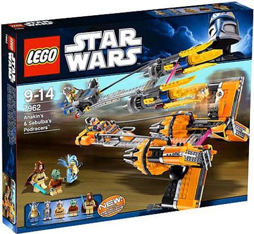 LEGO Star Wars Phantom Menace Anakin & Sebulbas Podracers Set #7962