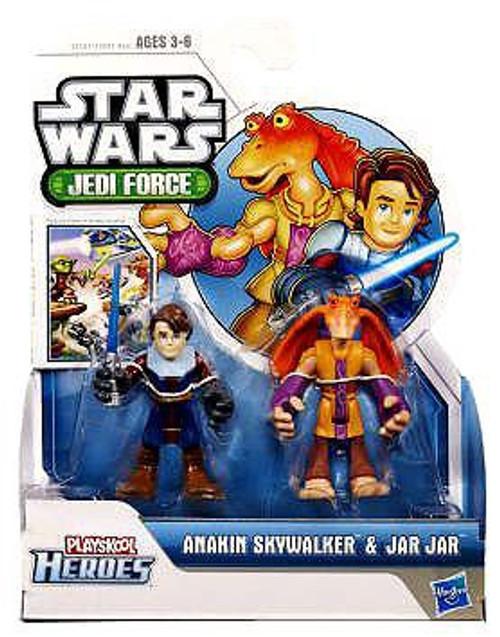 Star Wars Jedi Force Anakin Skywalker & Jar Jar Binks Mini Figure 2-Pack