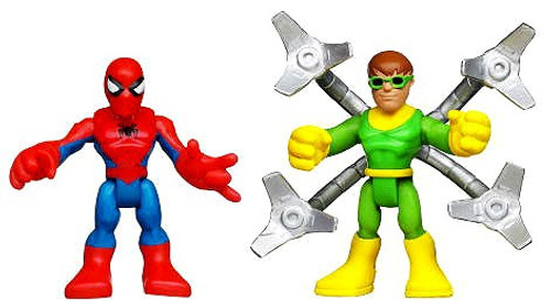 Marvel Playskool Heroes Super Hero Adventures Spider-Man & Doc Ock Action Figure 2-Pack