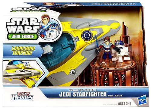 Star Wars Jedi Force Anakin Skywalker's Jedi Starfighter with R2-D2 Mini Figure Set