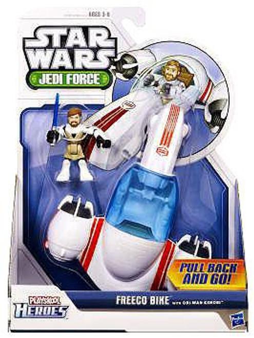 Star Wars Jedi Force Freeco Bike with Obi Wan Kenobi Mini Figure Set
