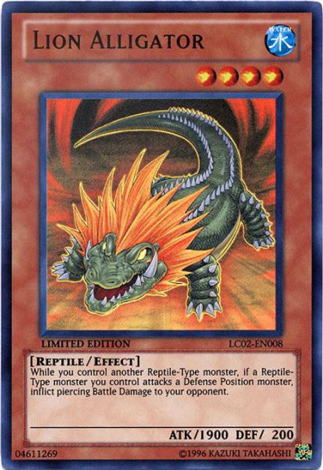 YuGiOh GX Trading Card Game Legendary Collection 2 Ultra Rare Lion Alligator LC02-EN008