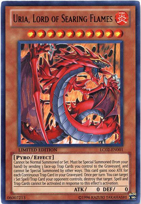YuGiOh GX Trading Card Game Legendary Collection 2 Ultra Rare Uria, Lord of Searing Flames LC02-EN001