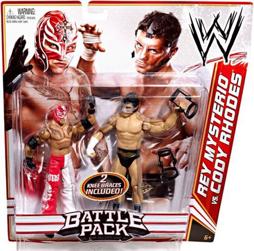 WWE Wrestling Battle Pack Series 13 Rey Mysterio vs. Cody Rhodes Action Figure 2-Pack