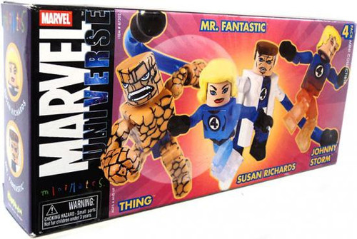 Marvel Universe Minimates Fantastic Four Exclusive Minifigure 4-Pack