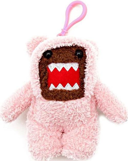 Teddy Bear Domo 4-Inch Plush Clip On [Pink]