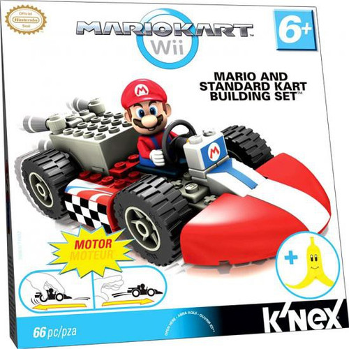 K'NEX Super Mario Mario Kart Wii Mario & Standard Kart Set #38003