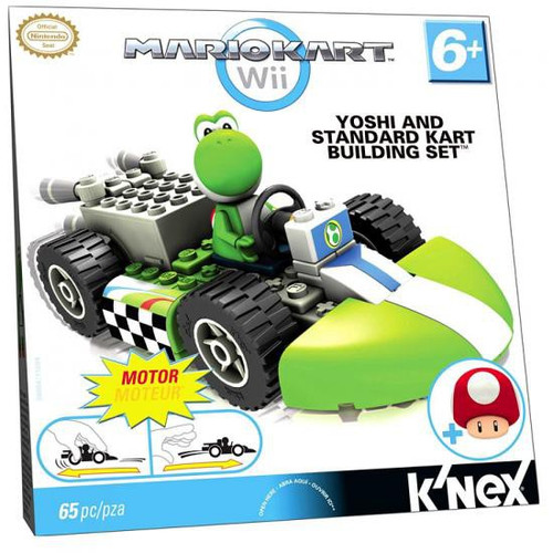 K'NEX Super Mario Mario Kart Wii Yoshi & Standard Kart Set #38004