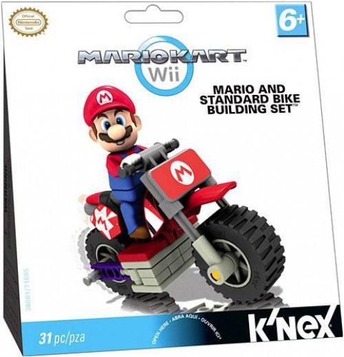 K'NEX Super Mario Mario Kart Wii Mario & Standard Bike Set #38001