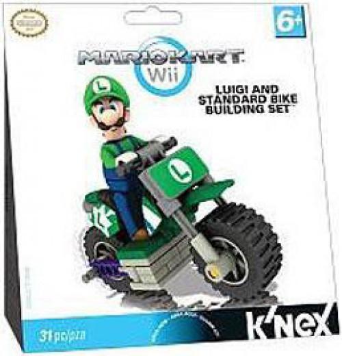 K'NEX Super Mario Mario Kart Wii Luigi & Standard Bike Set #380042