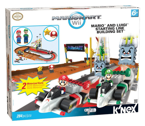 K'NEX Super Mario Mario Kart Wii Mario and Luigi Starting Line Set #38435