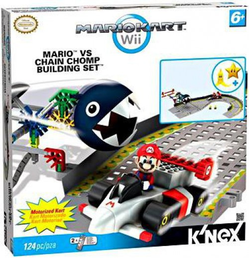 K'NEX Super Mario Mario Kart Wii Mario vs Chain Chomp Set #38469