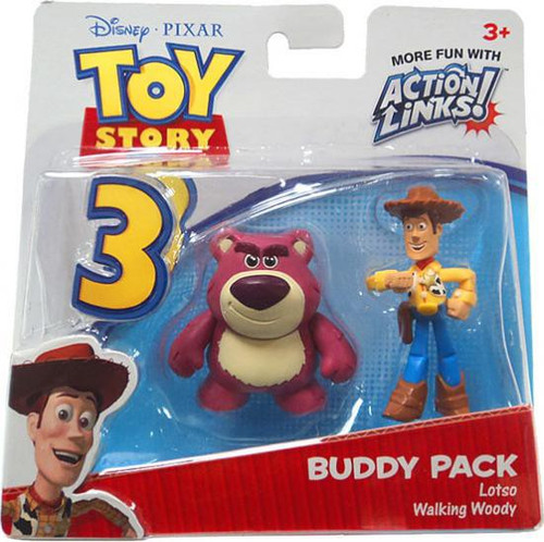 Toy Story 3 Action Links Buddy Pack Lotso & Walking Woody Mini Figure 2-Pack