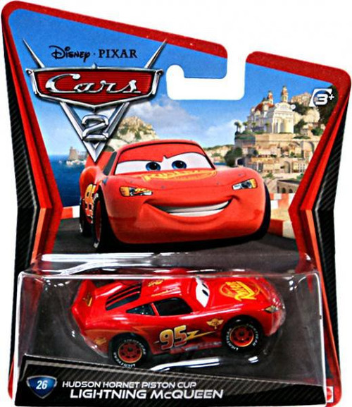 Disney / Pixar Cars Cars 2 Main Series Lightning McQueen with Hudson Hornet Piston Cup Diecast Car