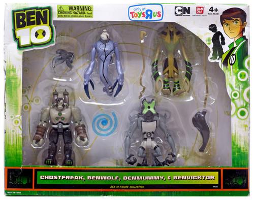 Ben 10 Ghostfreak, Benwolf, Benmummy & Benvicktor Exclusive Action Figure 4-Pack