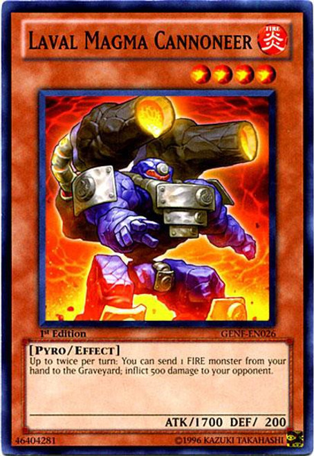 YuGiOh Trading Card Game Generation Force Common Laval Magma Cannoneer GENF-EN026