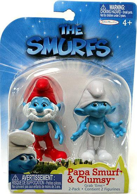 The Smurfs Movie Grab 'Ems Papa Smurf & Clumsy Mini Figure 2-Pack