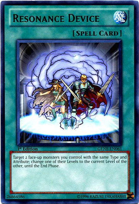 YuGiOh Trading Card Game Generation Force Rare Resonance Device GENF-EN061