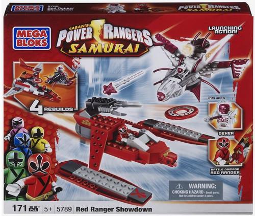 Mega Bloks Power Rangers Samurai Red Ranger Showdown Set #5789
