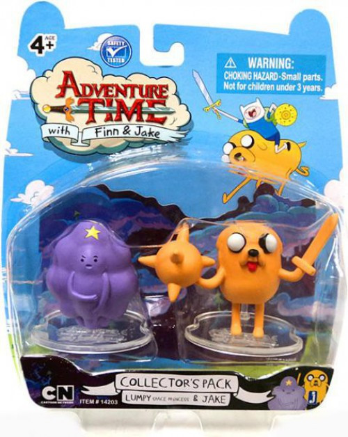 Adventure Time Collector's Pack Lumpy Space Princess & Jake 2-Inch Mini Figure 2-Pack