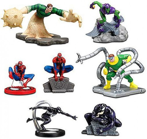 Disney Marvel Spider-Man Exclusive 7-Piece PVC Figure Set [2011]