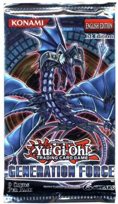 YuGiOh Trading Card Game Generation Force Booster Pack [9 Cards]